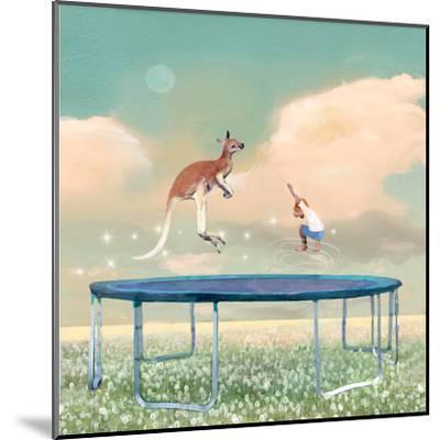 Jumping With Kangaroo-Nancy Tillman-Mounted Art Print