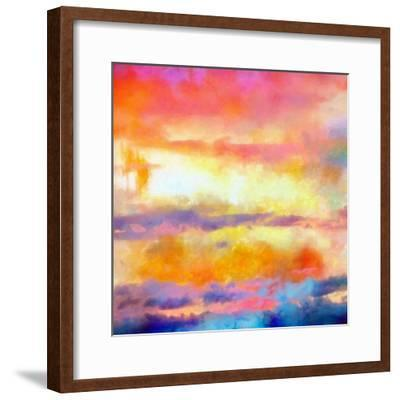 What a Color Art Series Abstract-Ricki Mountain-Framed Art Print