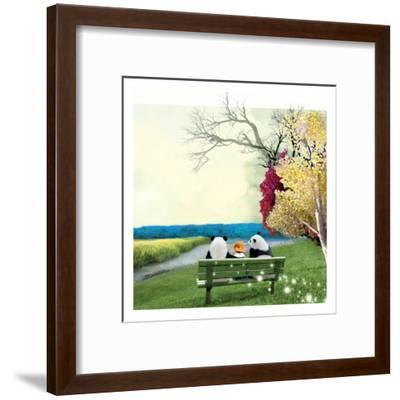Sitting With Pandas-Nancy Tillman-Framed Art Print