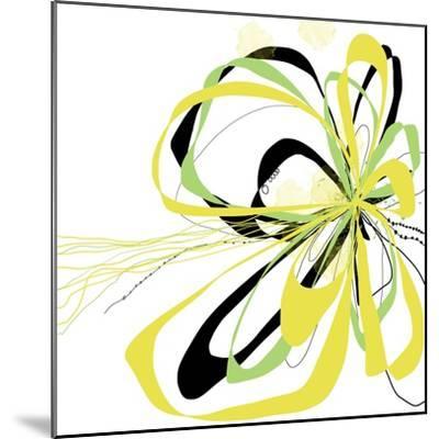 Citron Bloom 2-Jan Weiss-Mounted Art Print