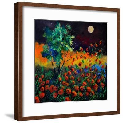 Red Poppies 774111-Pol Ledent-Framed Art Print