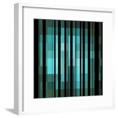 Pixels Stripe Pattern Design-Megan Aroon Duncanson-Framed Art Print