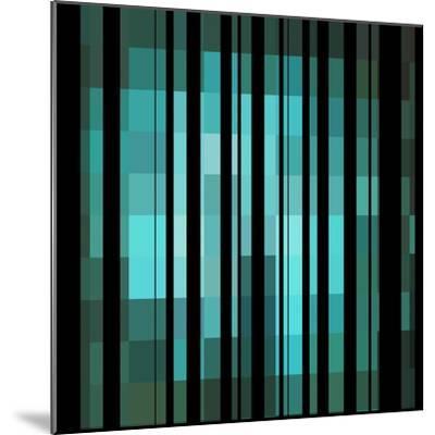 Pixels Stripe Pattern Design-Megan Aroon Duncanson-Mounted Art Print