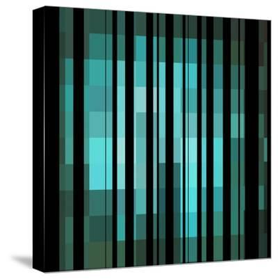 Pixels Stripe Pattern Design-Megan Aroon Duncanson-Stretched Canvas Print