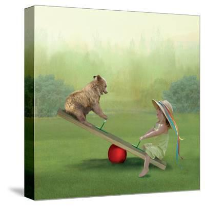 See Saw-Nancy Tillman-Stretched Canvas Print