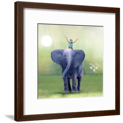 Elephant Ride-Nancy Tillman-Framed Art Print