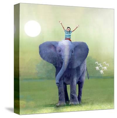 Elephant Ride-Nancy Tillman-Stretched Canvas Print