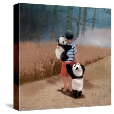 Panda Friends-Nancy Tillman-Stretched Canvas Print