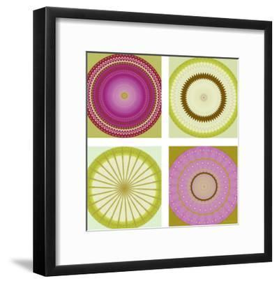 Circle Love Collage-Herb Dickinson-Framed Art Print