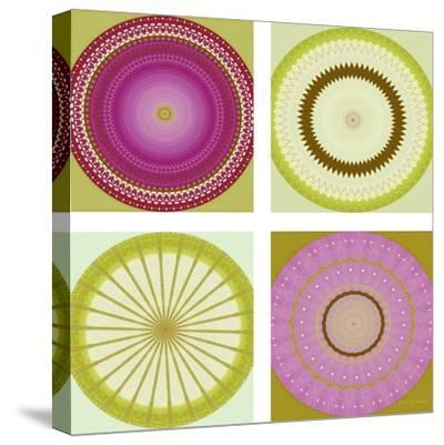 Circle Love Collage-Herb Dickinson-Stretched Canvas Print
