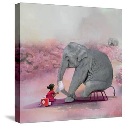 My Elephant Friend-Nancy Tillman-Stretched Canvas Print