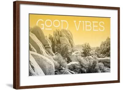 Ombre Adventure I Good Vibes-Elizabeth Urquhart-Framed Photo