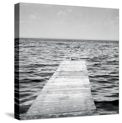 Calm Days I BW Crop-Elizabeth Urquhart-Stretched Canvas Print