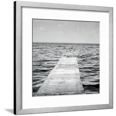 Calm Days I BW Crop-Elizabeth Urquhart-Framed Photo