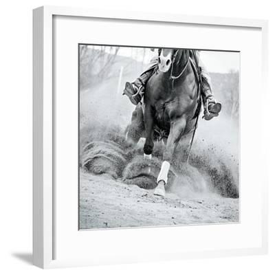 Reining In-Lisa Cueman-Framed Photo