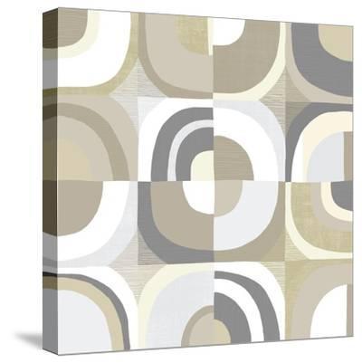 Circle Quartet Achroma-Wild Apple Portfolio-Stretched Canvas Print