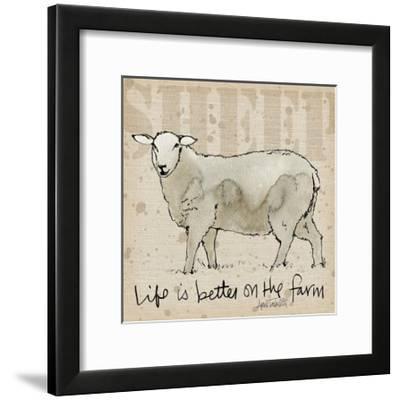 Farm Life IV-Anne Tavoletti-Framed Art Print