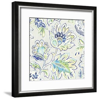 Ceylon Gardens V Indigo-Wild Apple Portfolio-Framed Art Print