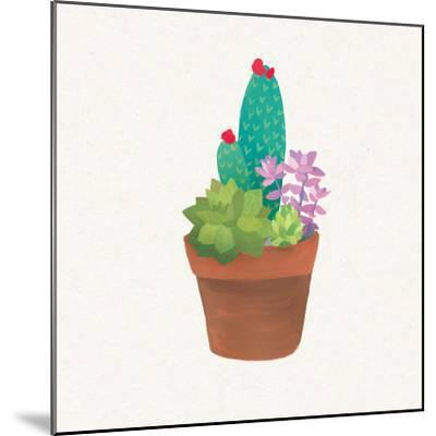 Succulent Pot II-Wild Apple Portfolio-Mounted Art Print