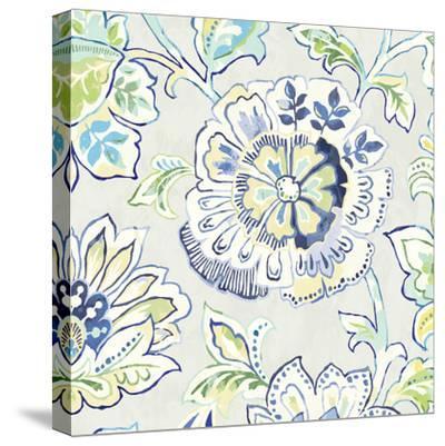 Ceylon Gardens IV Indigo-Wild Apple Portfolio-Stretched Canvas Print