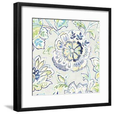 Ceylon Gardens IV Indigo-Wild Apple Portfolio-Framed Art Print