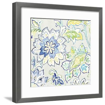 Ceylon Gardens VI Indigo-Wild Apple Portfolio-Framed Art Print