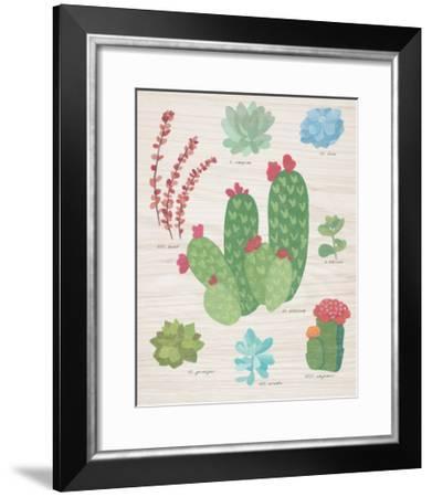 Succulent Chart IV on Wood-Wild Apple Portfolio-Framed Art Print