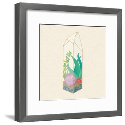 Succulent Terrarium I-Wild Apple Portfolio-Framed Art Print