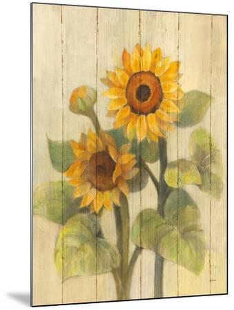 Summer Sunflowers II on Barnboard-Albena Hristova-Mounted Art Print
