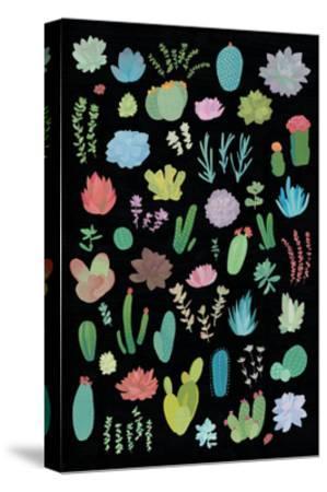 Succulaen Chart 1-Wild Apple Portfolio-Stretched Canvas Print