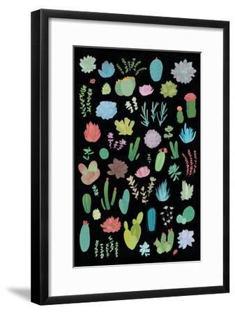 Succulaen Chart 1-Wild Apple Portfolio-Framed Art Print