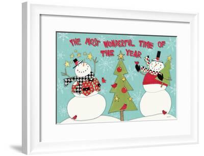 Snowman Sentiments I-Anne Tavoletti-Framed Art Print