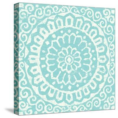 Amadora Blue - Tile VI-Wild Apple Portfolio-Stretched Canvas Print