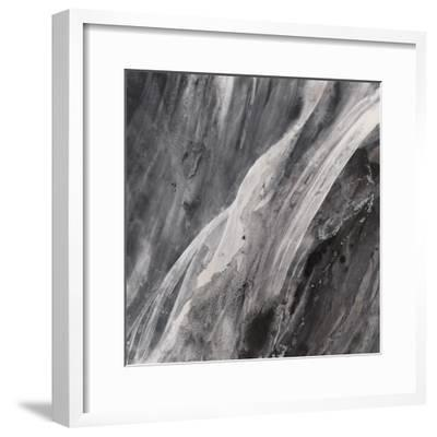 Dark Grey Splash-Albena Hristova-Framed Art Print
