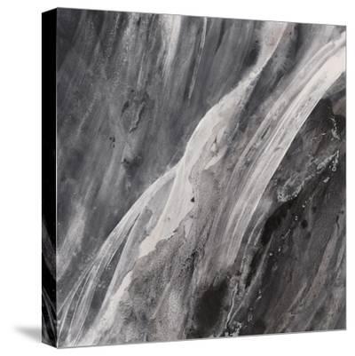Dark Grey Splash-Albena Hristova-Stretched Canvas Print