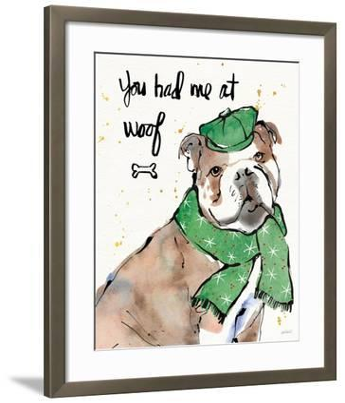 Strike a Paws I Christmas-Anne Tavoletti-Framed Art Print