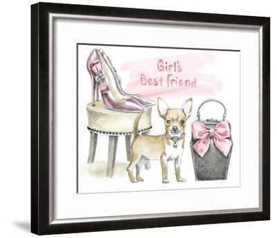 Glamour Pups VI-Beth Grove-Framed Art Print