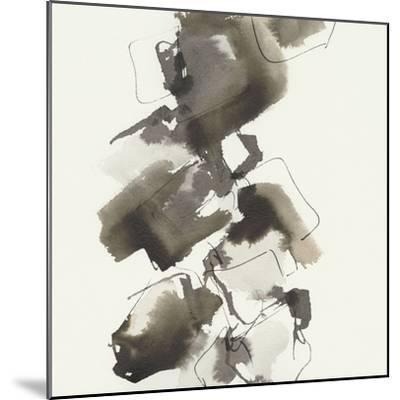 Stacked II Greige-Chris Paschke-Mounted Art Print