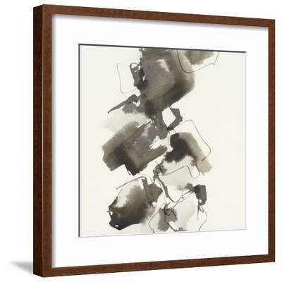 Stacked II Greige-Chris Paschke-Framed Art Print