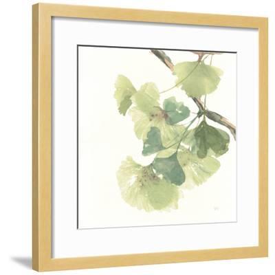 Gingko Leaves II on White-Chris Paschke-Framed Premium Giclee Print