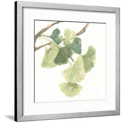 Gingko Leaves I on White-Chris Paschke-Framed Art Print