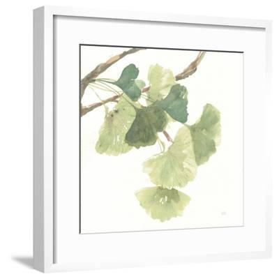 Gingko Leaves I on White-Chris Paschke-Framed Premium Giclee Print