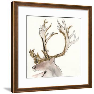 Gilded Caribou II-Chris Paschke-Framed Art Print