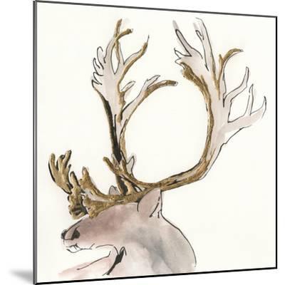 Gilded Caribou II-Chris Paschke-Mounted Art Print