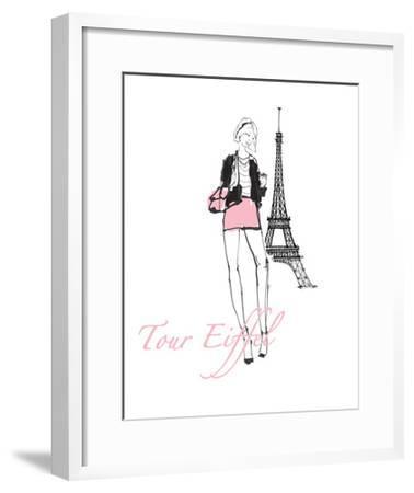 French Chic I Pink on White-Avery Tillmon-Framed Art Print