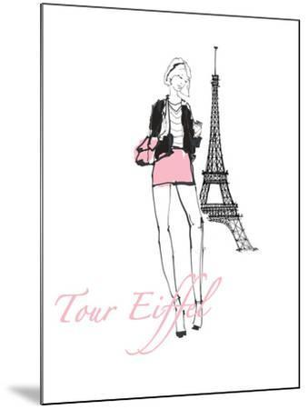 French Chic I Pink on White-Avery Tillmon-Mounted Art Print