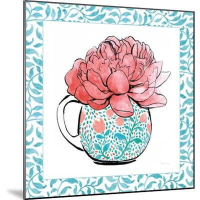 Floral Teacup I Vine Border-Beth Grove-Mounted Art Print