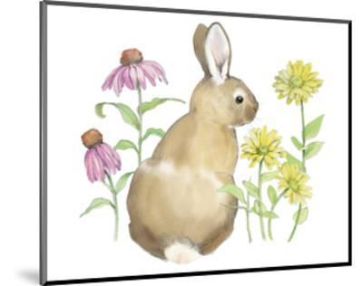 Wildflower Bunnies I-Beth Grove-Mounted Art Print