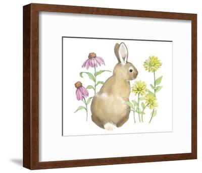 Wildflower Bunnies I-Beth Grove-Framed Art Print
