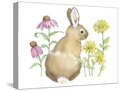 Wildflower Bunnies I-Beth Grove-Stretched Canvas Print